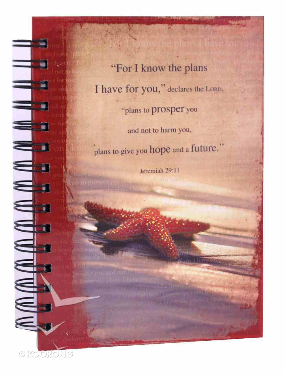 Spiral Journal: I Know the Plans... Starfish (Large) Spiral
