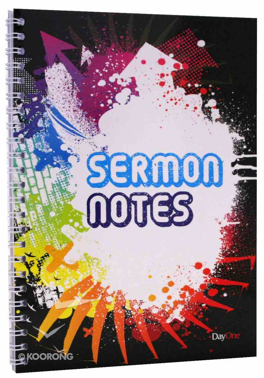 Sermon Notes Black Spiral