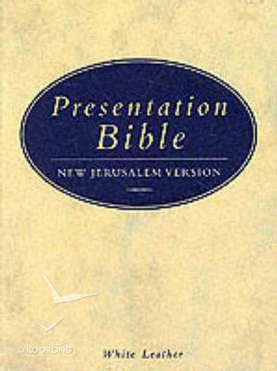 New Jerusalem Presentation Bible Leather White Hardback