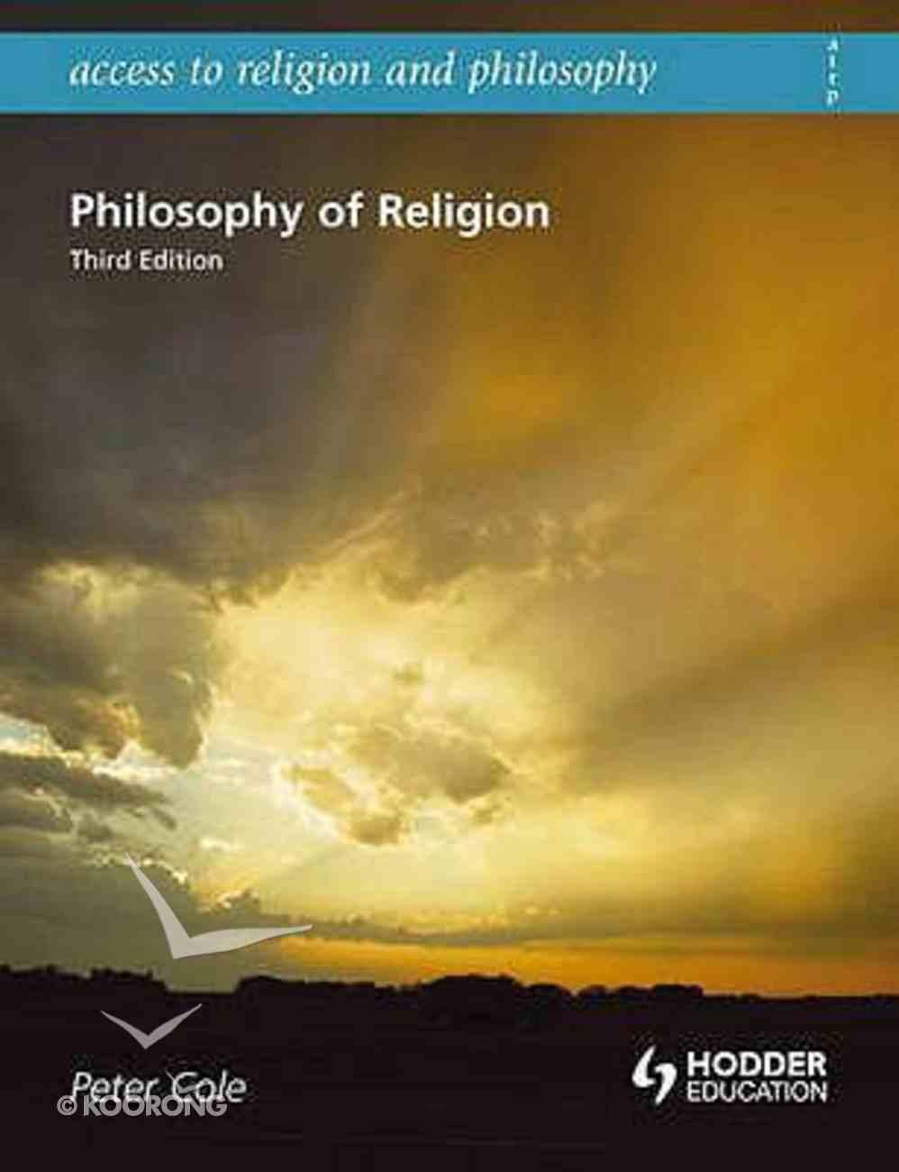 Philosophy of Religion Senior School (Third Edition) Paperback