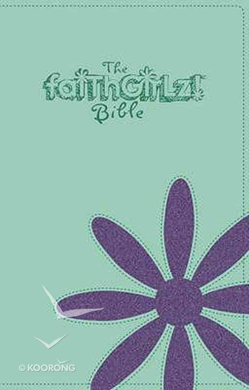 NIV Faithgirlz Bible Soft Green and Purple Duo Tone Imitation Leather