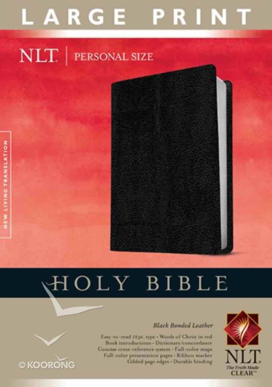 NLT Personal Size Large Print Bible Black (Red Letter Edition) Bonded Leather