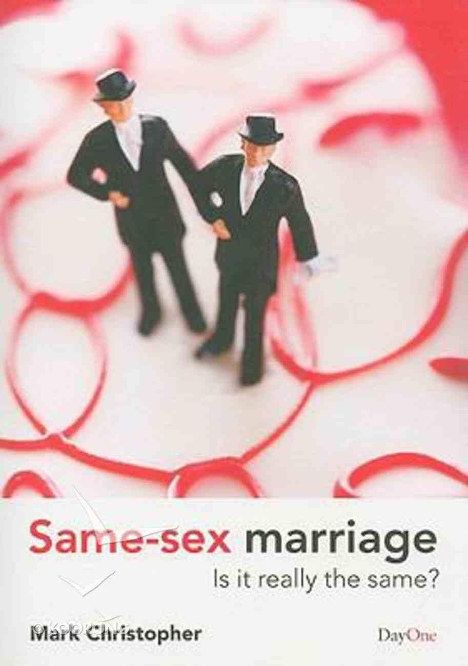 Same Sex Marriage Paperback