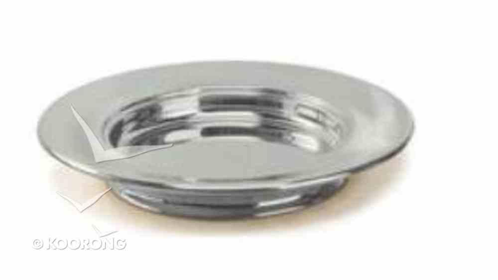 "Bread Plate: Stacking Base Plain Polished Aluminium (Rw-504pp) (10"") Church Supplies"
