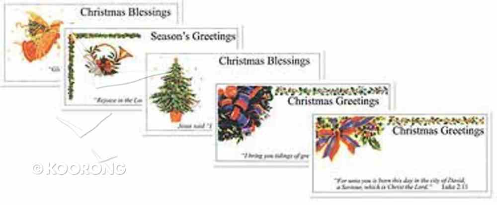 Christmas Gift Tags Pack of 20: 4 Each of 5 Designs Stationery