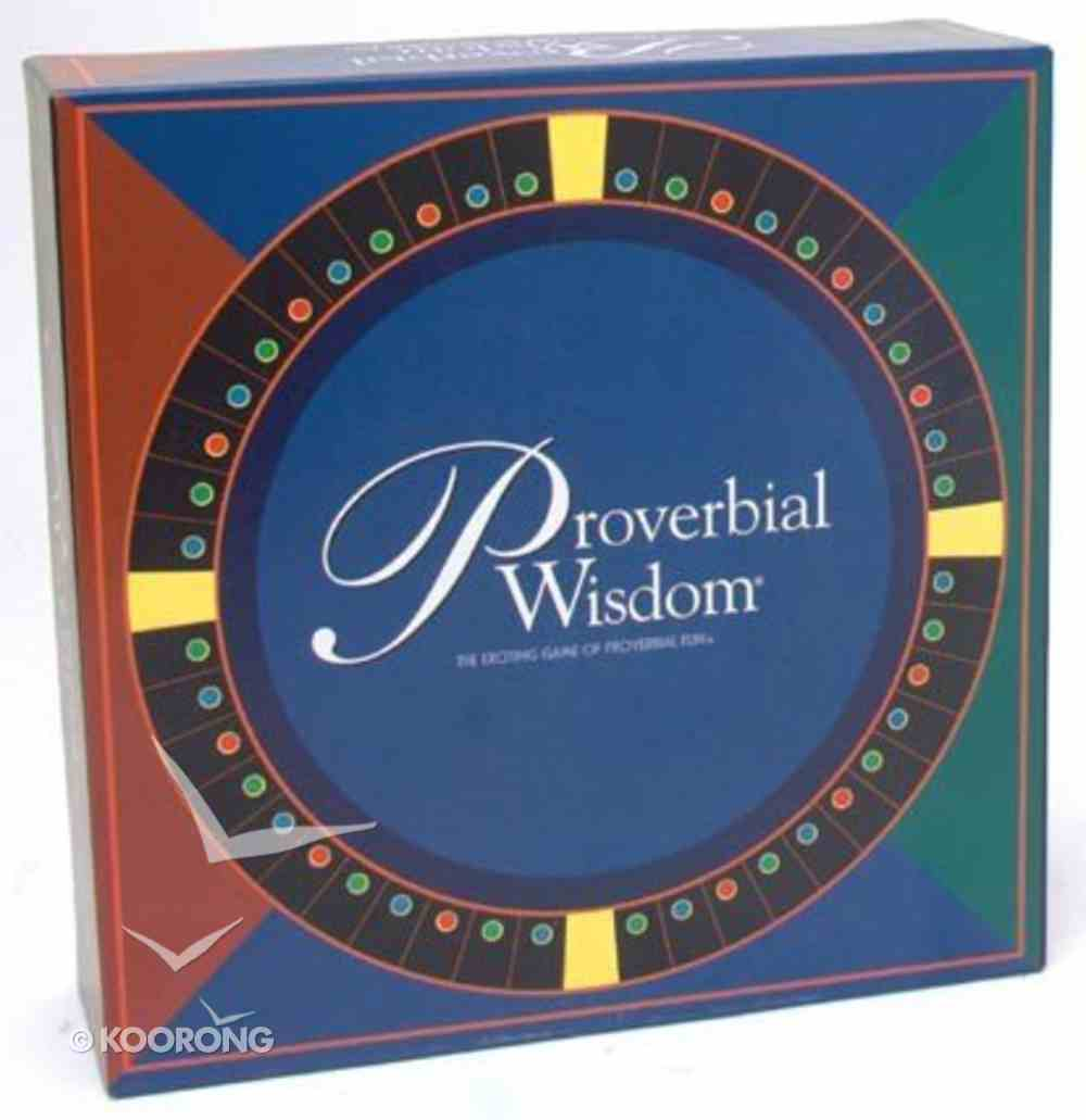 Board Game: Proverbial Wisdom Bible Edition Game