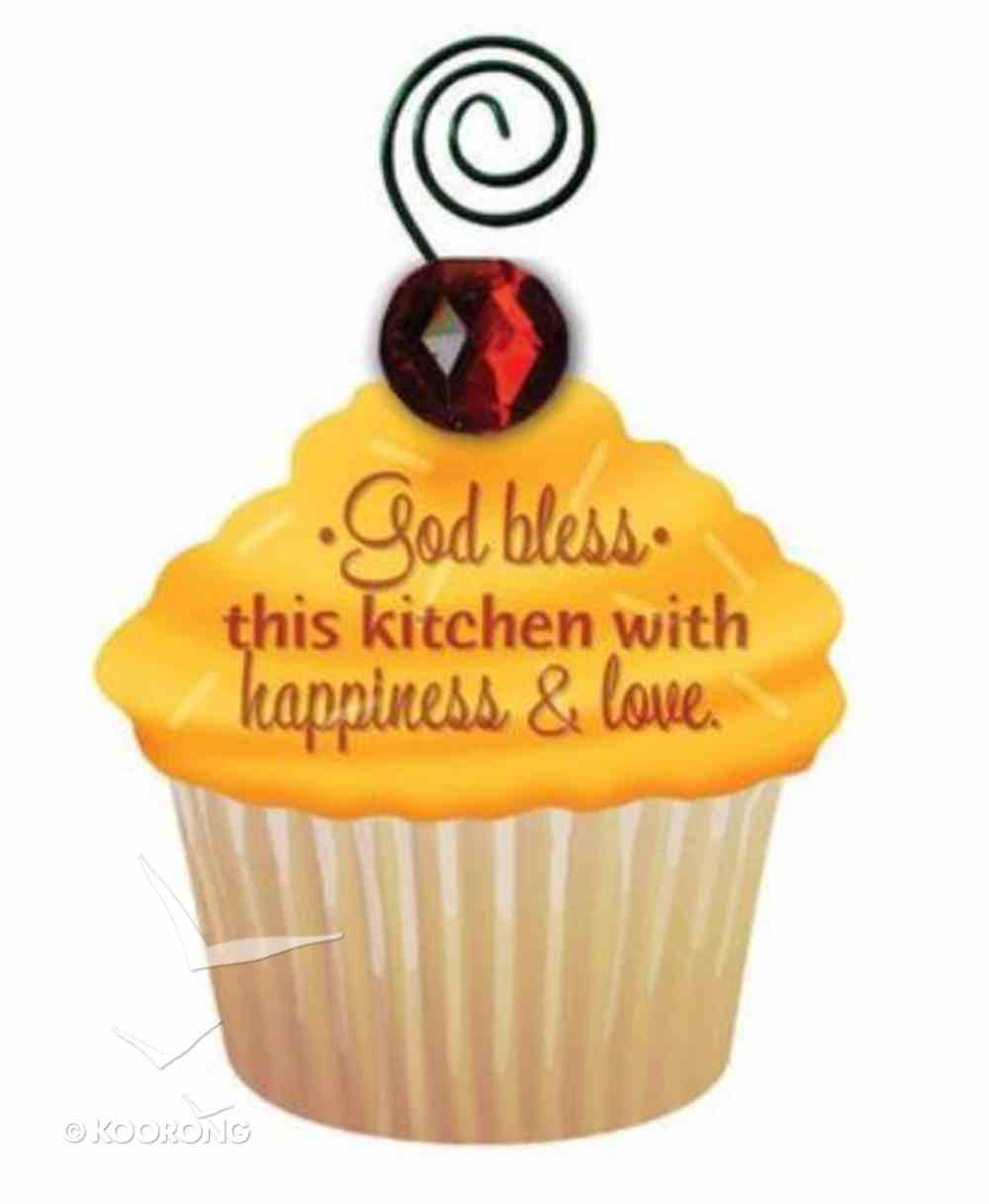 Be Sweet Cupcake Magnet: God Bless This Kitchen With Happiness & Love Novelty
