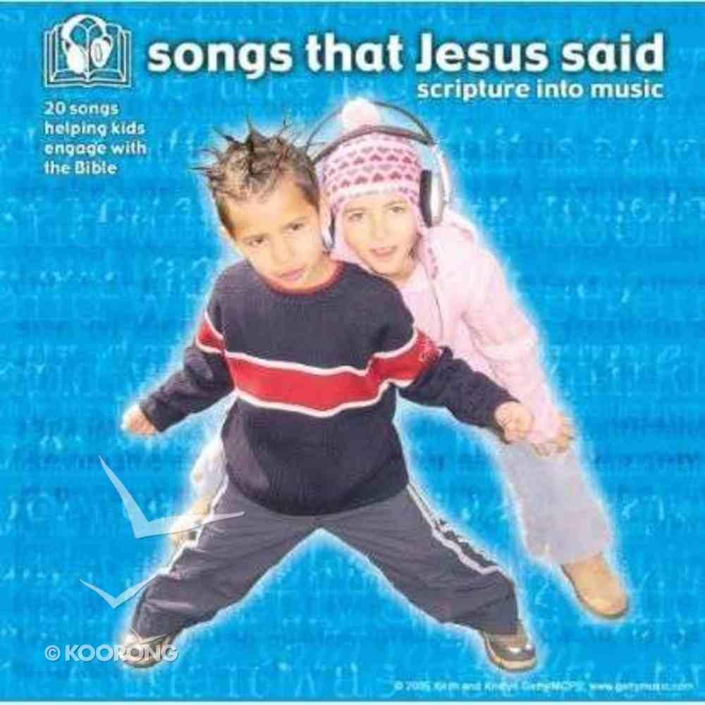 Songs That Jesus Said CD