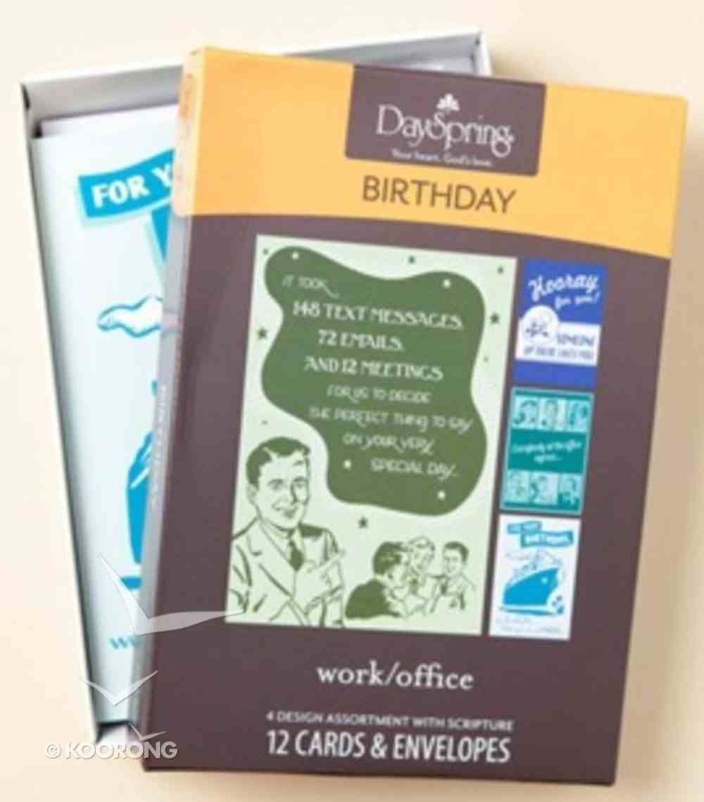 Boxed Cards Birthday: Work/Office Box