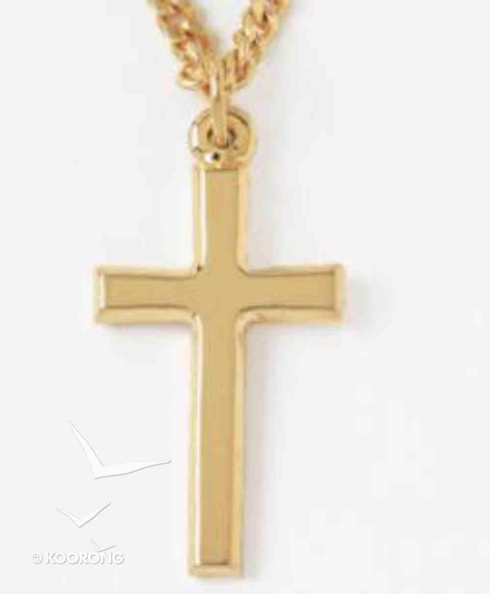 Pendant: Cross Plain (Gold Plated) Jewellery