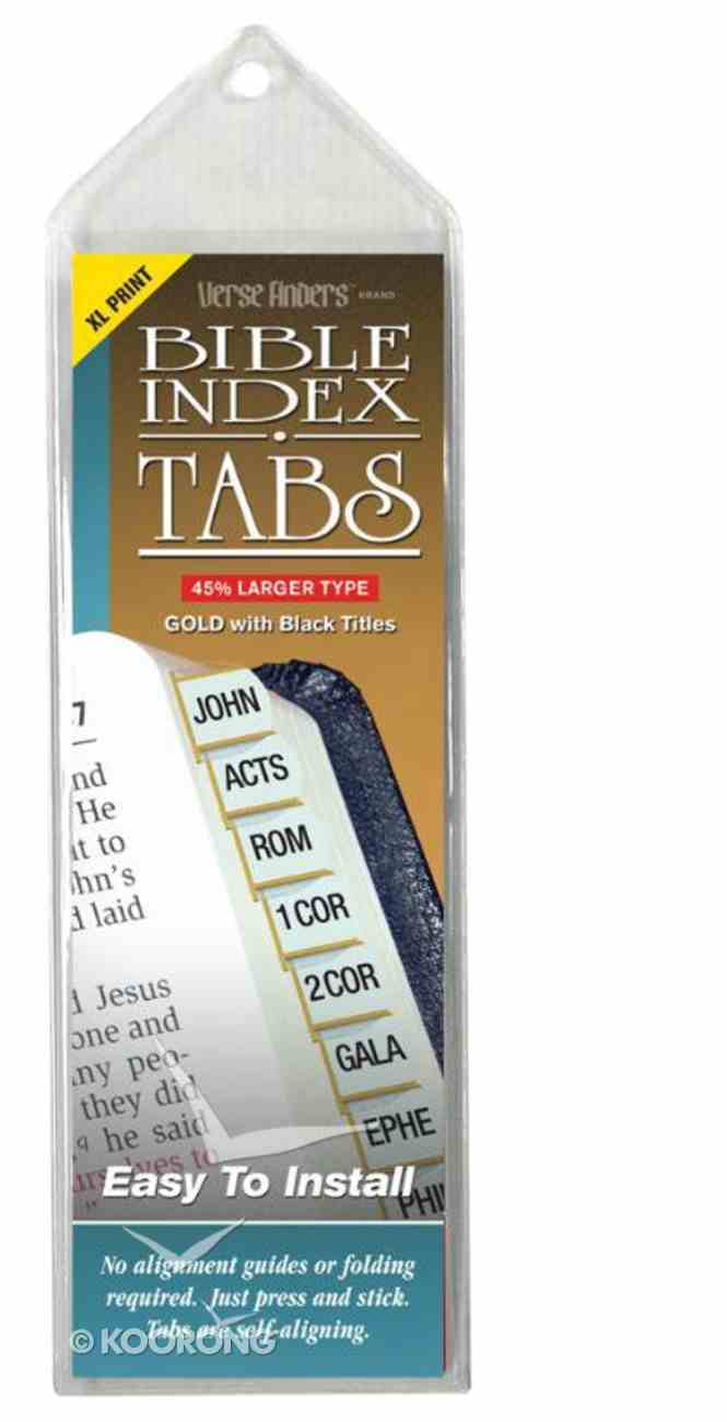 Bible Tabs Verse Finders Extra Large Print Gold (Horizontal) Stationery