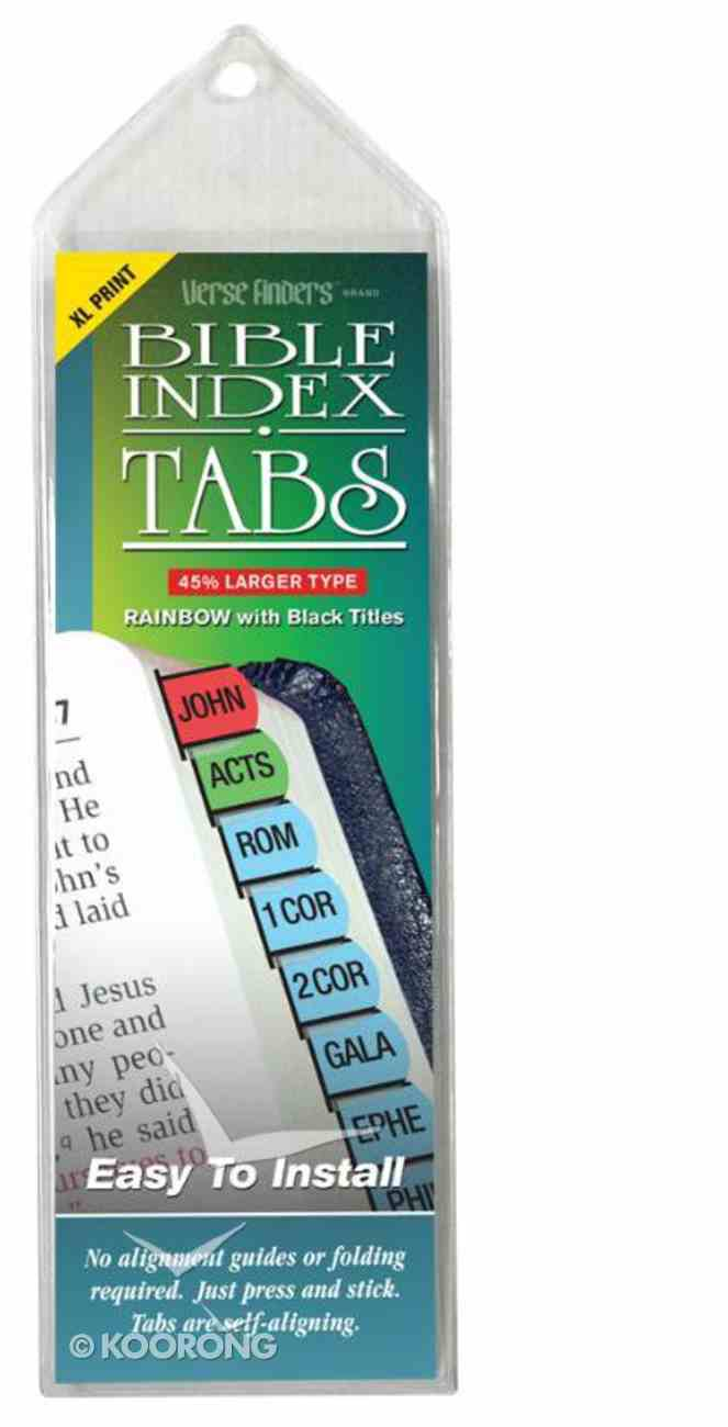 Bible Tabs Verse Finders Extra Large Print Rainbow (Horizontal) Stationery