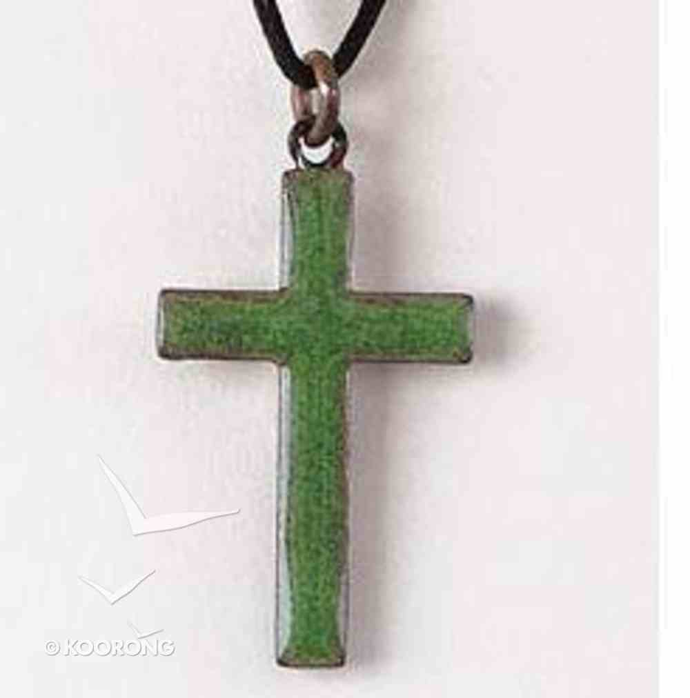 Pendant: Cross Green Enamel Jewellery