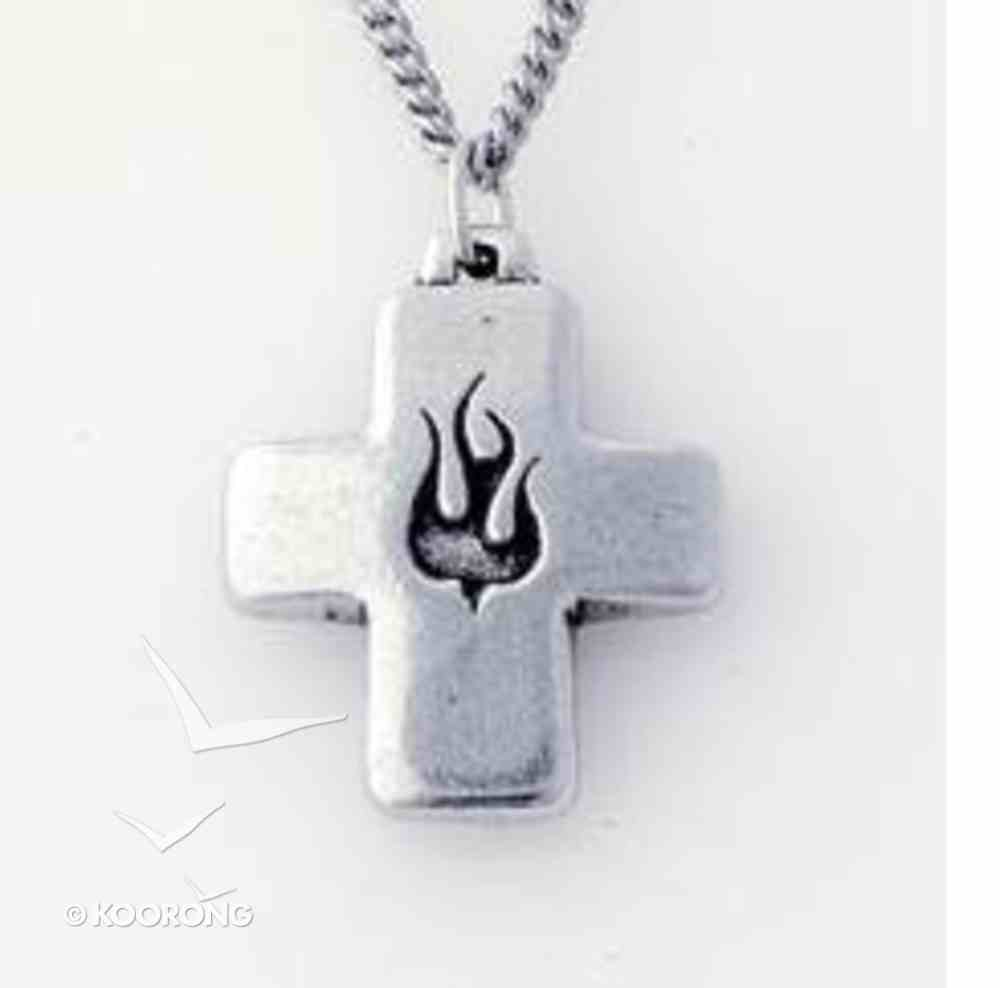 Pendant: Cross Puffy Dove (Pewter) Jewellery
