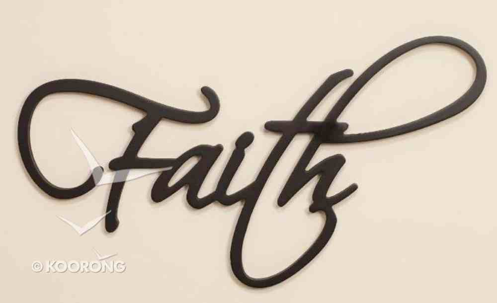 Word Plaque: Faith, Black, Mdf Plaque