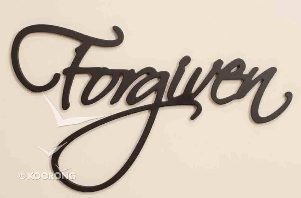 Word Plaque: Forgiven, Black, Mdf Plaque