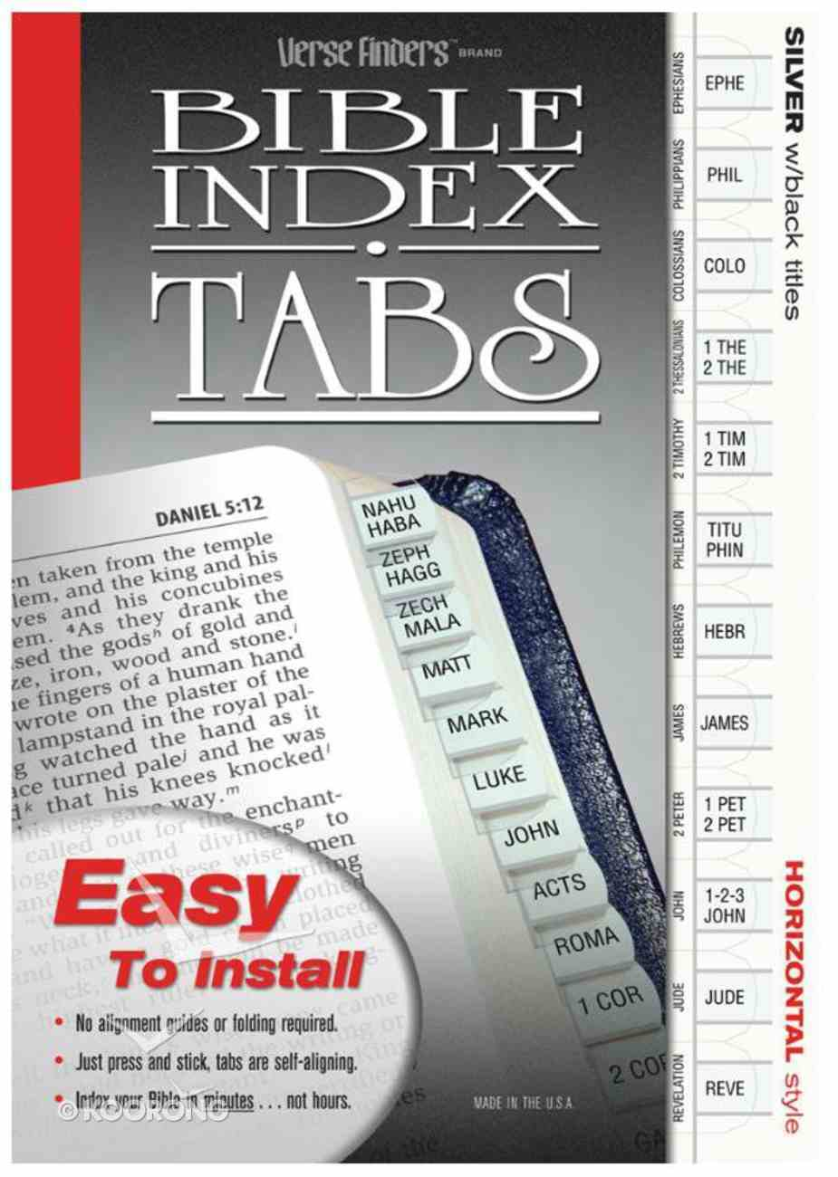 Bible Tabs Verse Finders Silver (Horizontal) Stationery