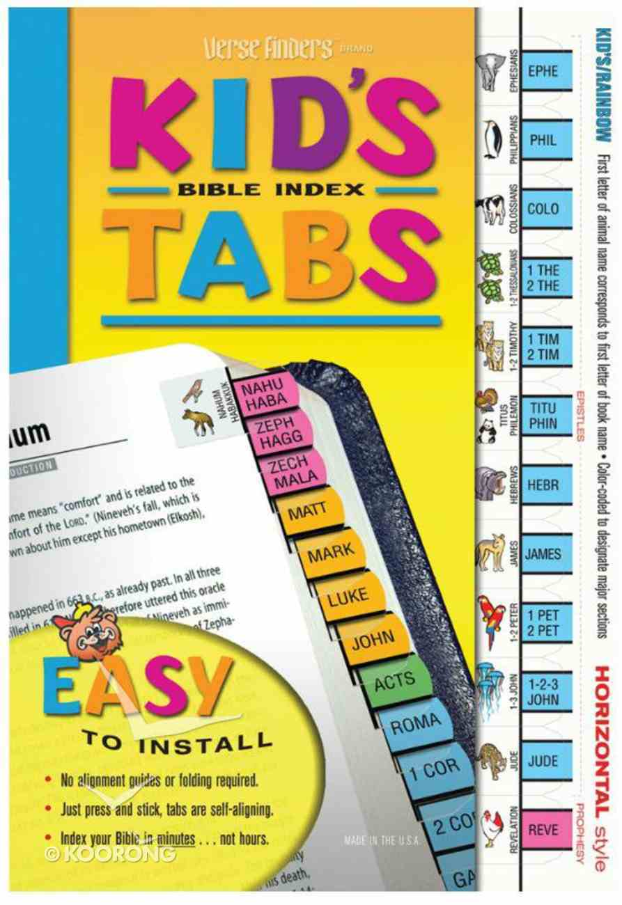 Bible Tabs Verse Finders Kid's Tabs (Horizontal) Stationery