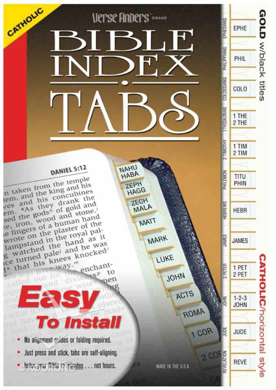 Bible Tabs Verse Finders Catholic Gold (Horizontal) Stationery