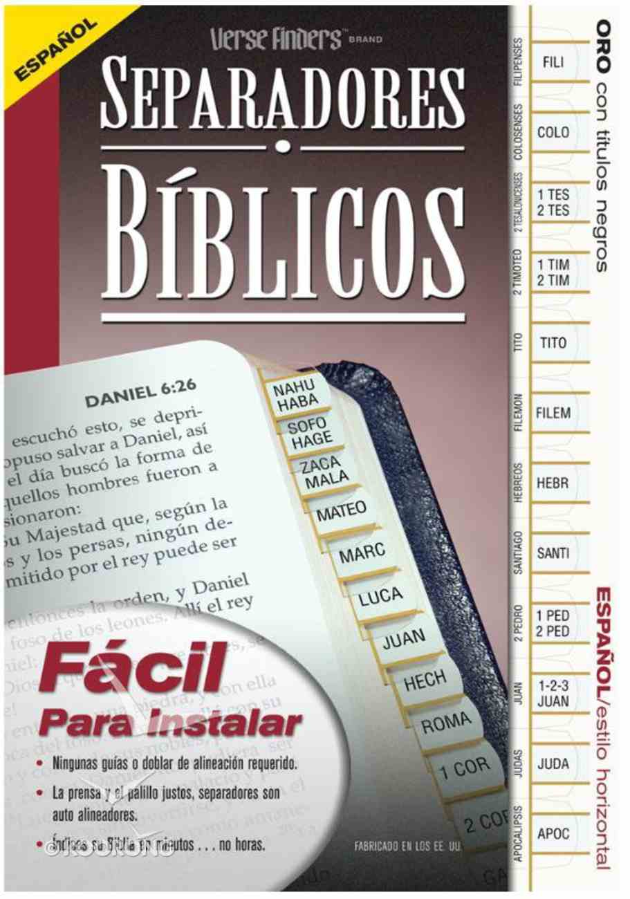 Bible Tabs Verse Finders Spanish Gold (Horizontal) Stationery