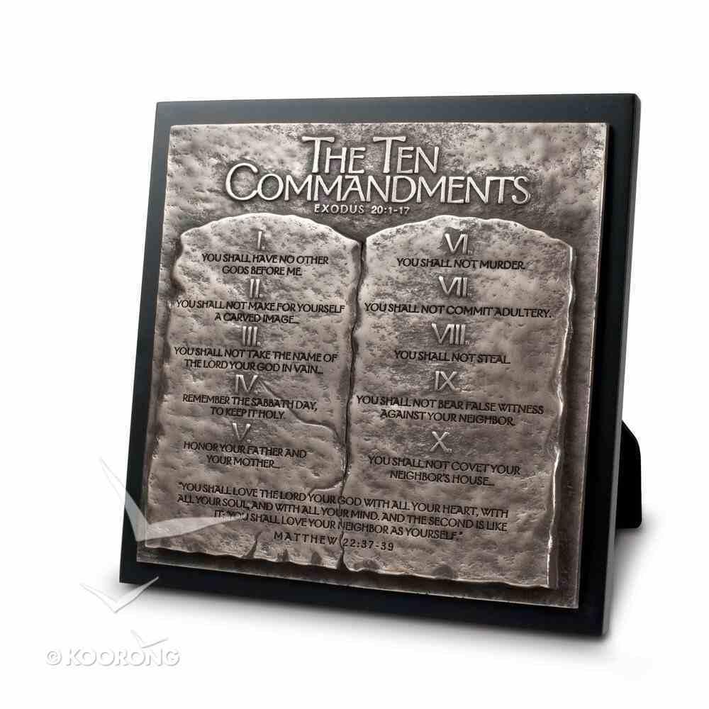 Small Moments of Faith Sculpture: Ten Commandments Plaque