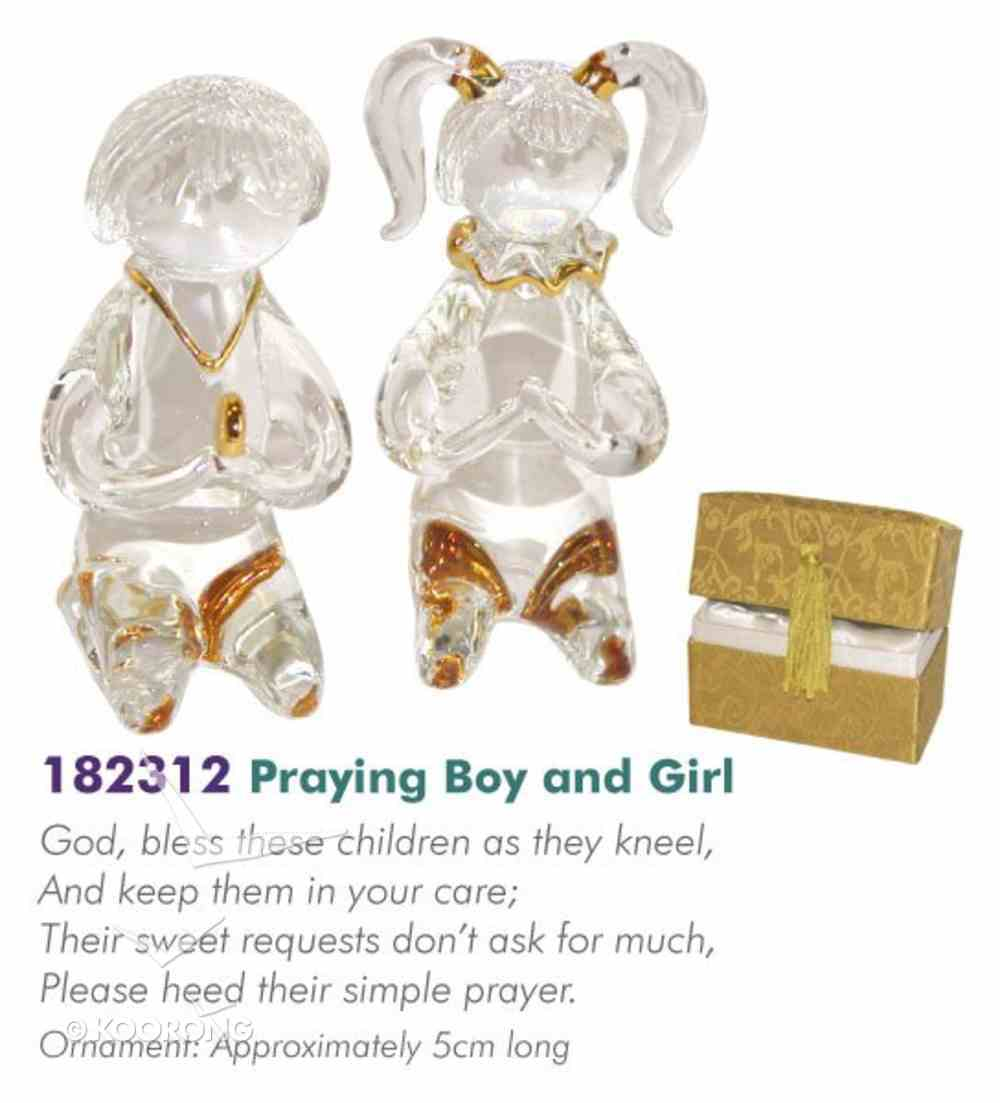 Glass Messengers: Praying Boy & Girl Homeware