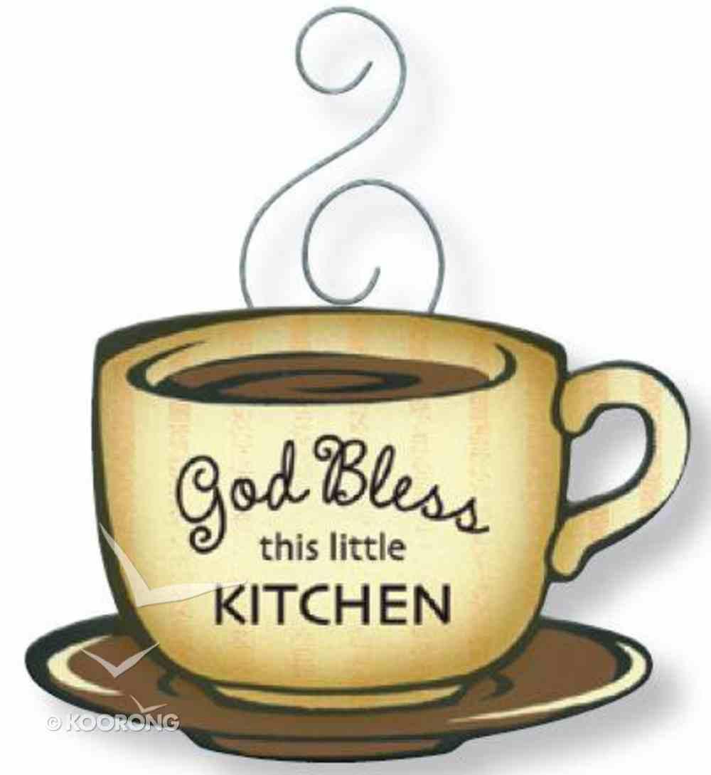 Mocha Magnet: God Bless This Little Kitchen Novelty