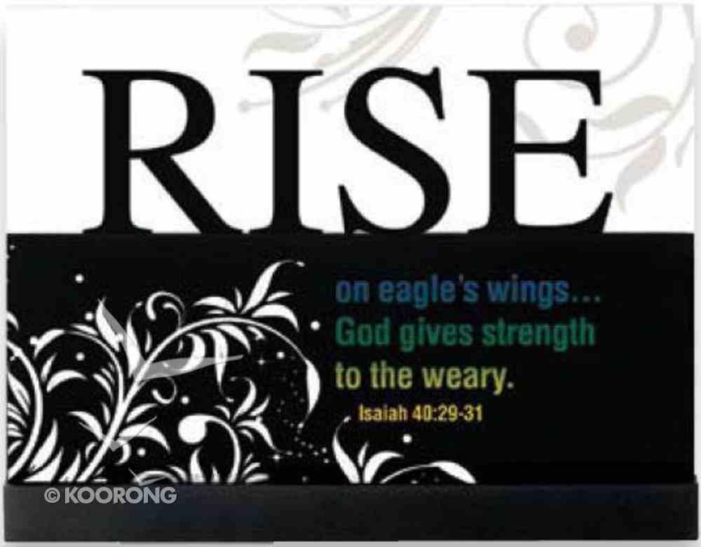 Lifewords Plaque: Rise Plaque