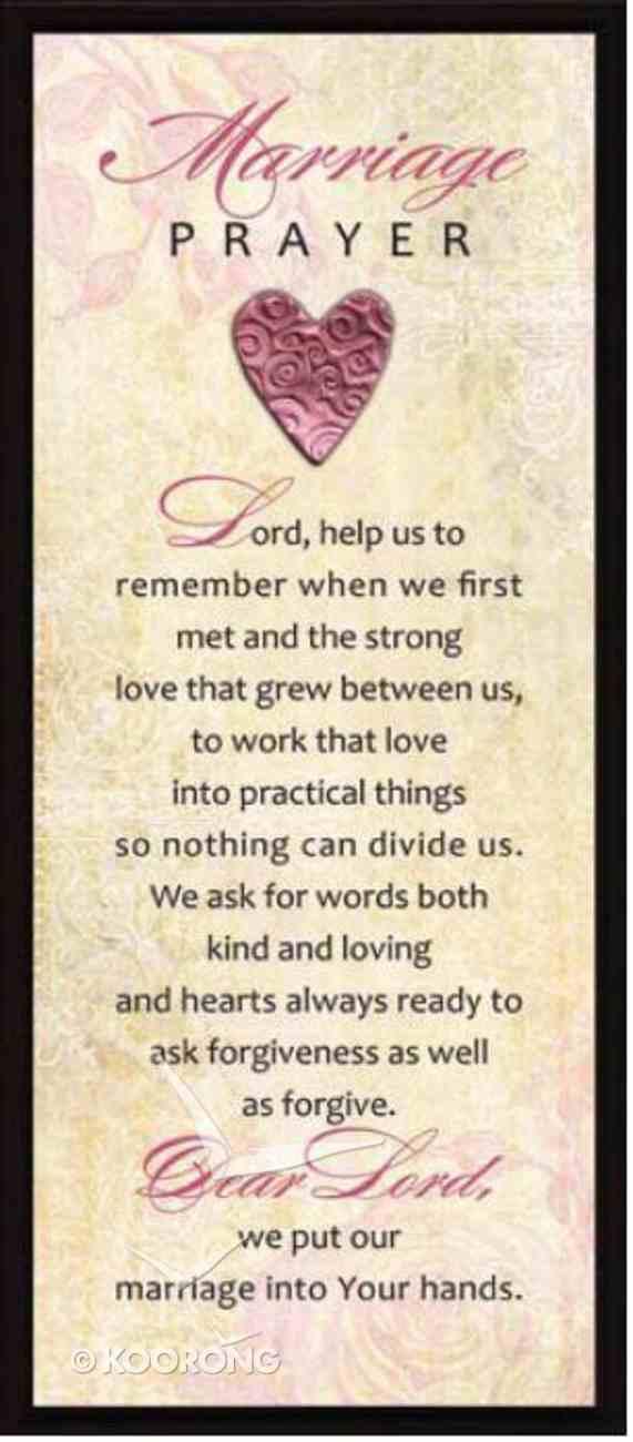 "Lifelines Plaque: Marriage Prayer (5.5"" X 12.5"") Plaque"