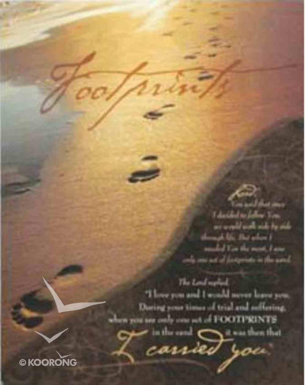 Mdf Plaque: Footprints Plaque