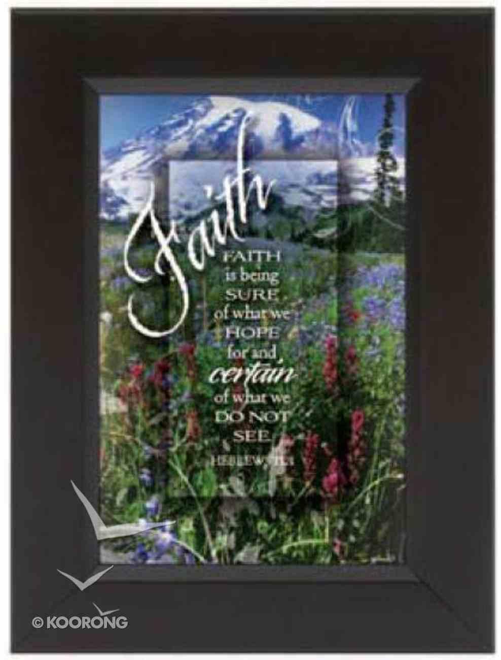 """Shadow Box: Faith (6"""" X 8"""") Plaque"""
