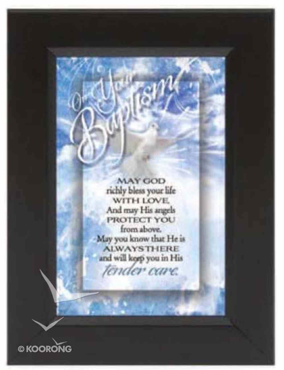 """Shadow Box: On Your Baptism (6"""" X 8"""") Plaque"""