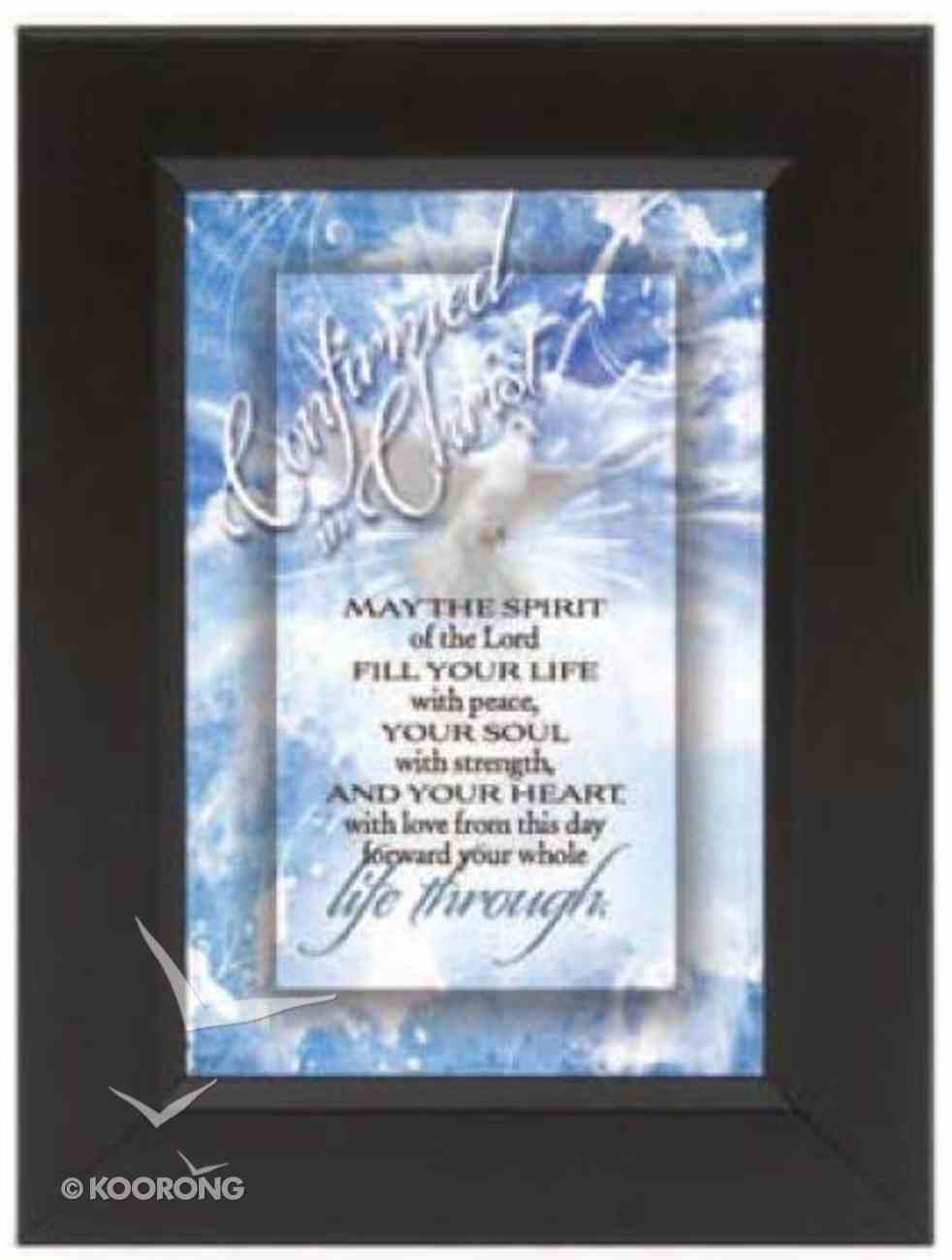 "Shadow Box: Confirmed in Christ (6"" X 8"") Plaque"