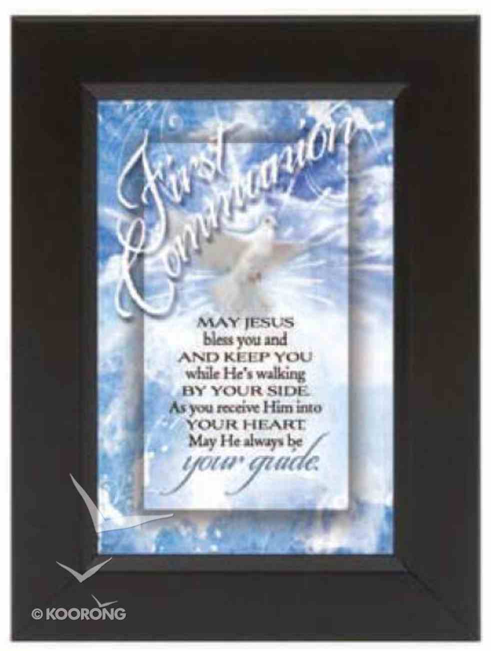 "Shadow Box: First Communion (6"" X 8"") Plaque"