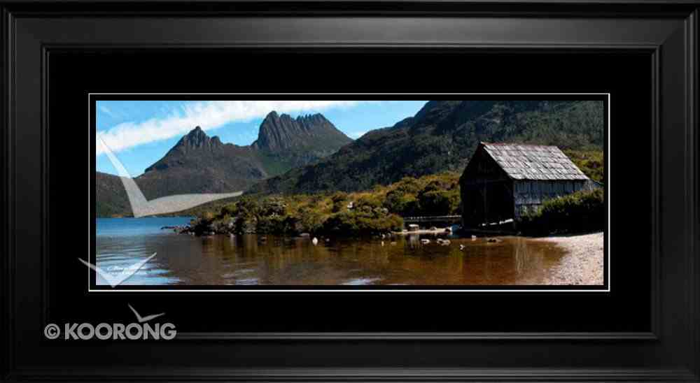 Clancy Haven Framed Photo: Cradle Mountain, Psalm 125:1 Plaque