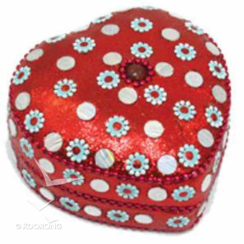 Heart Trinket Box Large: Red (Empowering The Poor Series) Jewellery