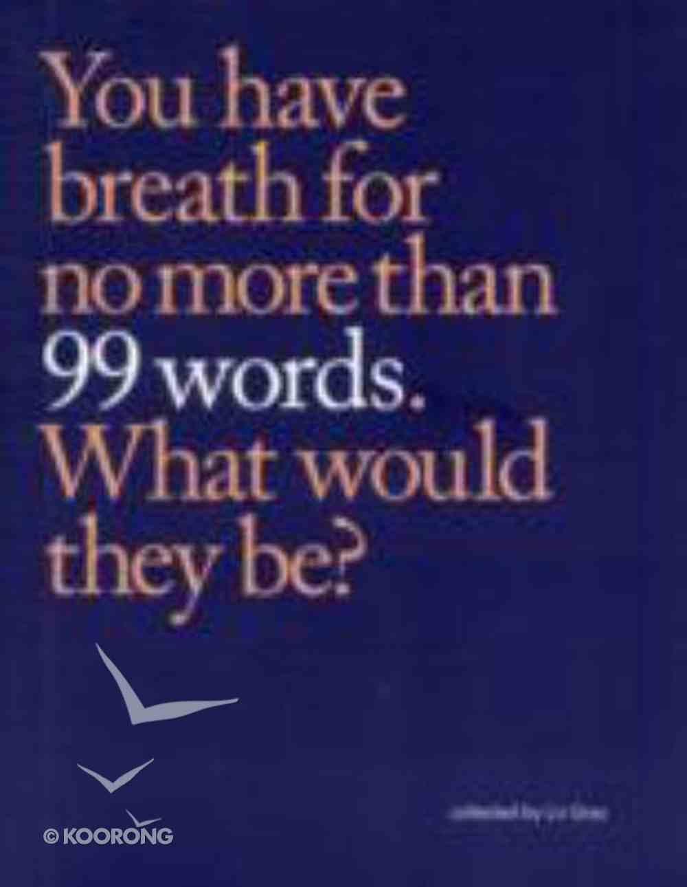 99 Words Paperback