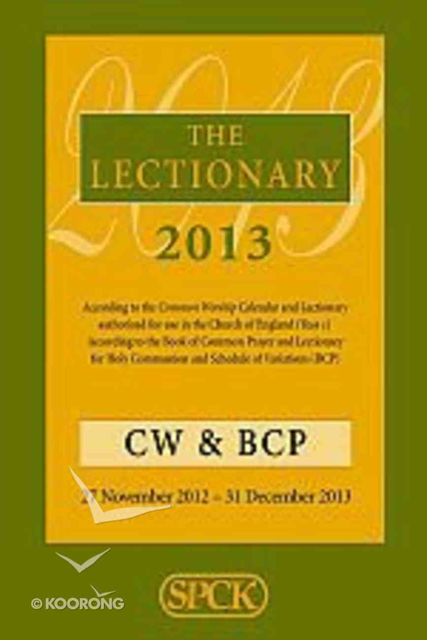 The Lectionary 2013 Paperback