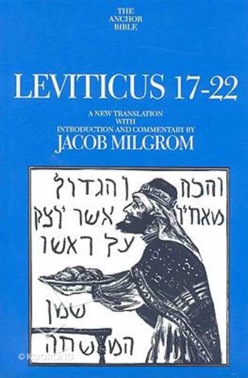 Anchor Yale: Leviticus 17-22 Hardback