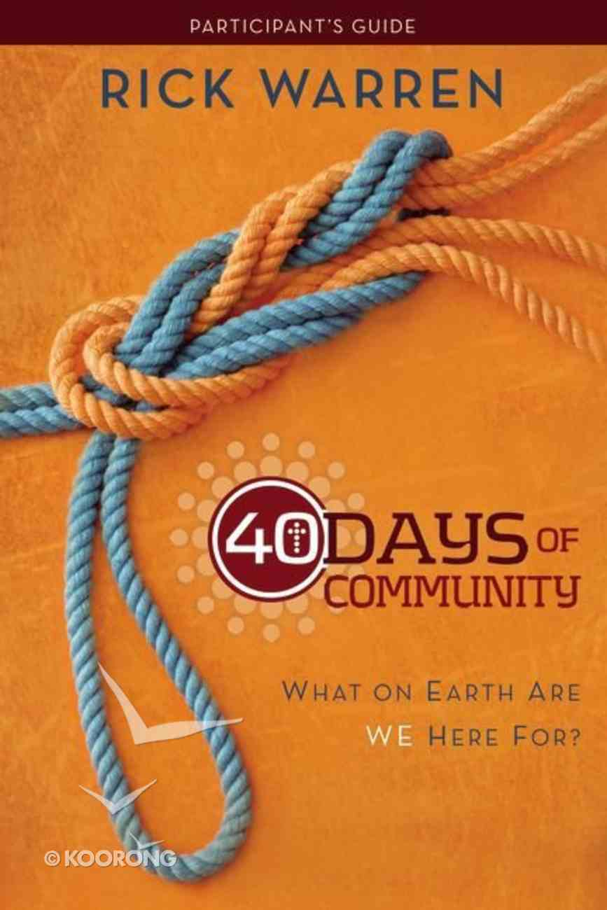 40 Days of Community Pack (Dvd, Study Guide, Devotional) Pack