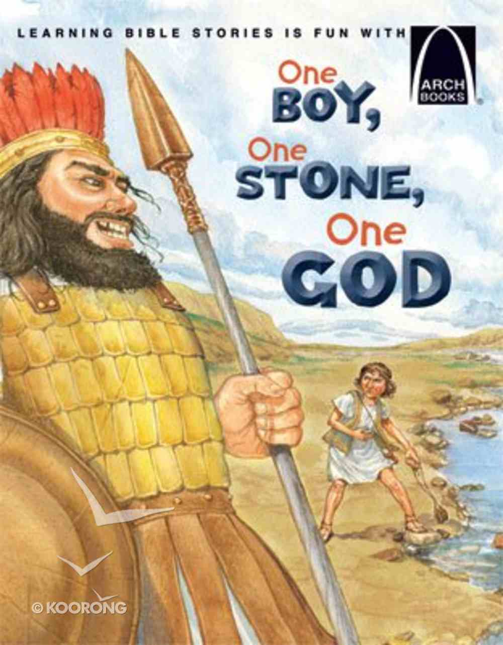 One Boy, One Stone, One God (Arch Books Series) Paperback