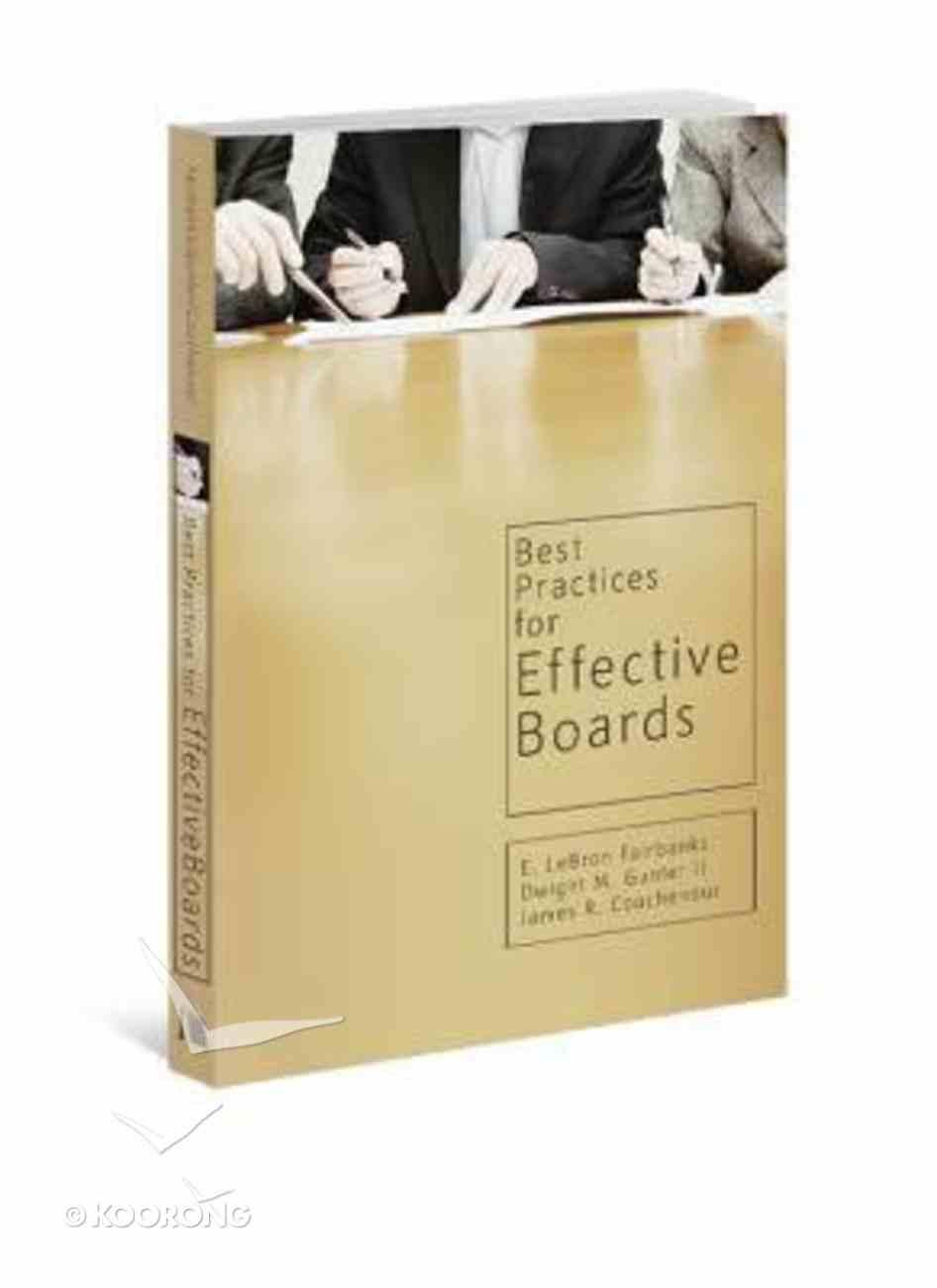 Best Practices For Effective Boards Paperback