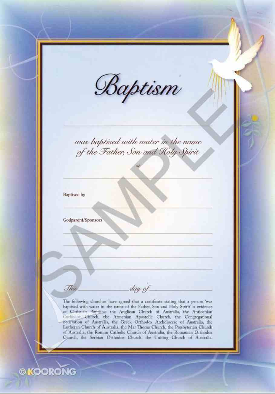 Certificate: Baptism (10 Pack) Stationery