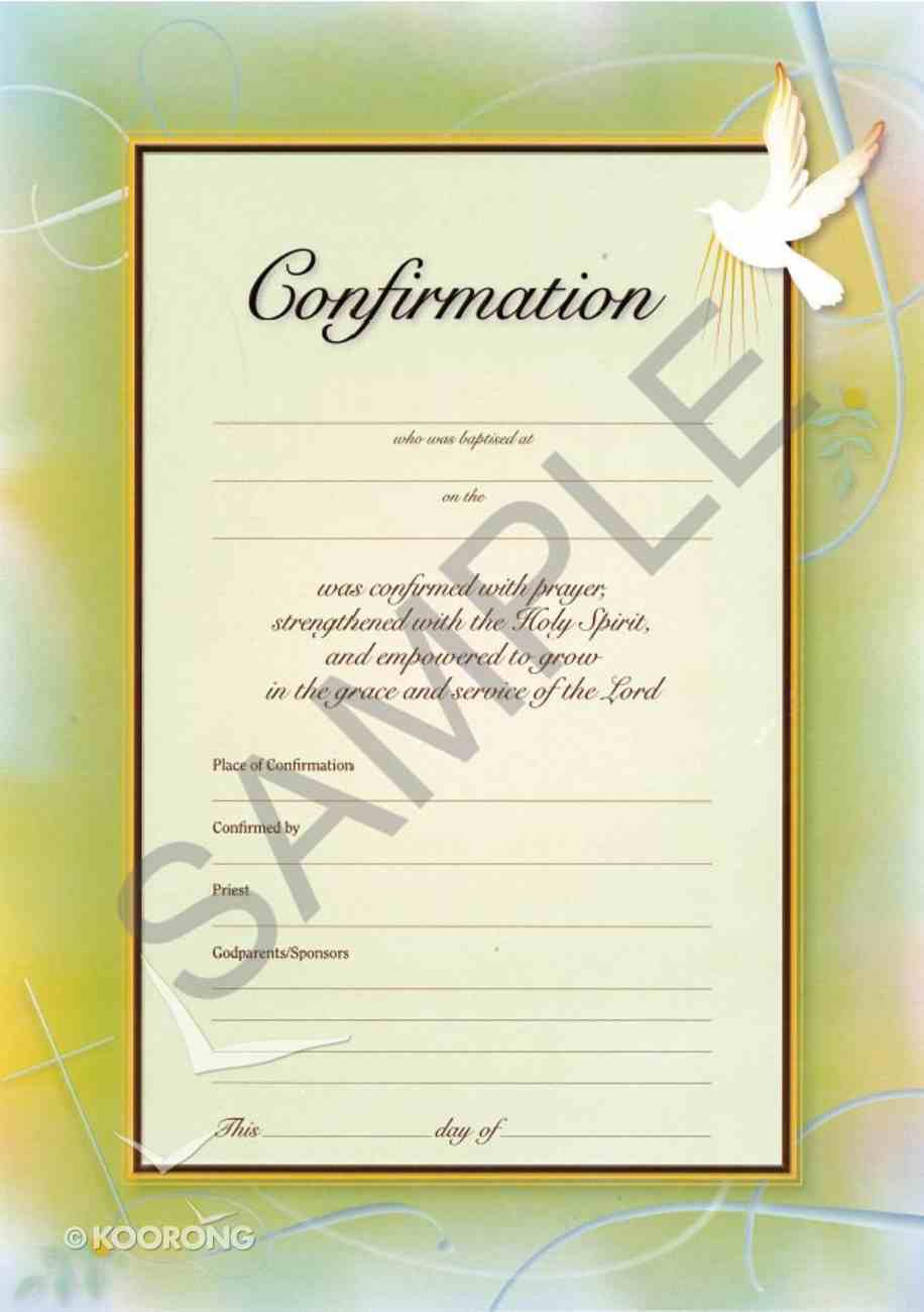 Certificate: Confirmation (10 Pack) Stationery