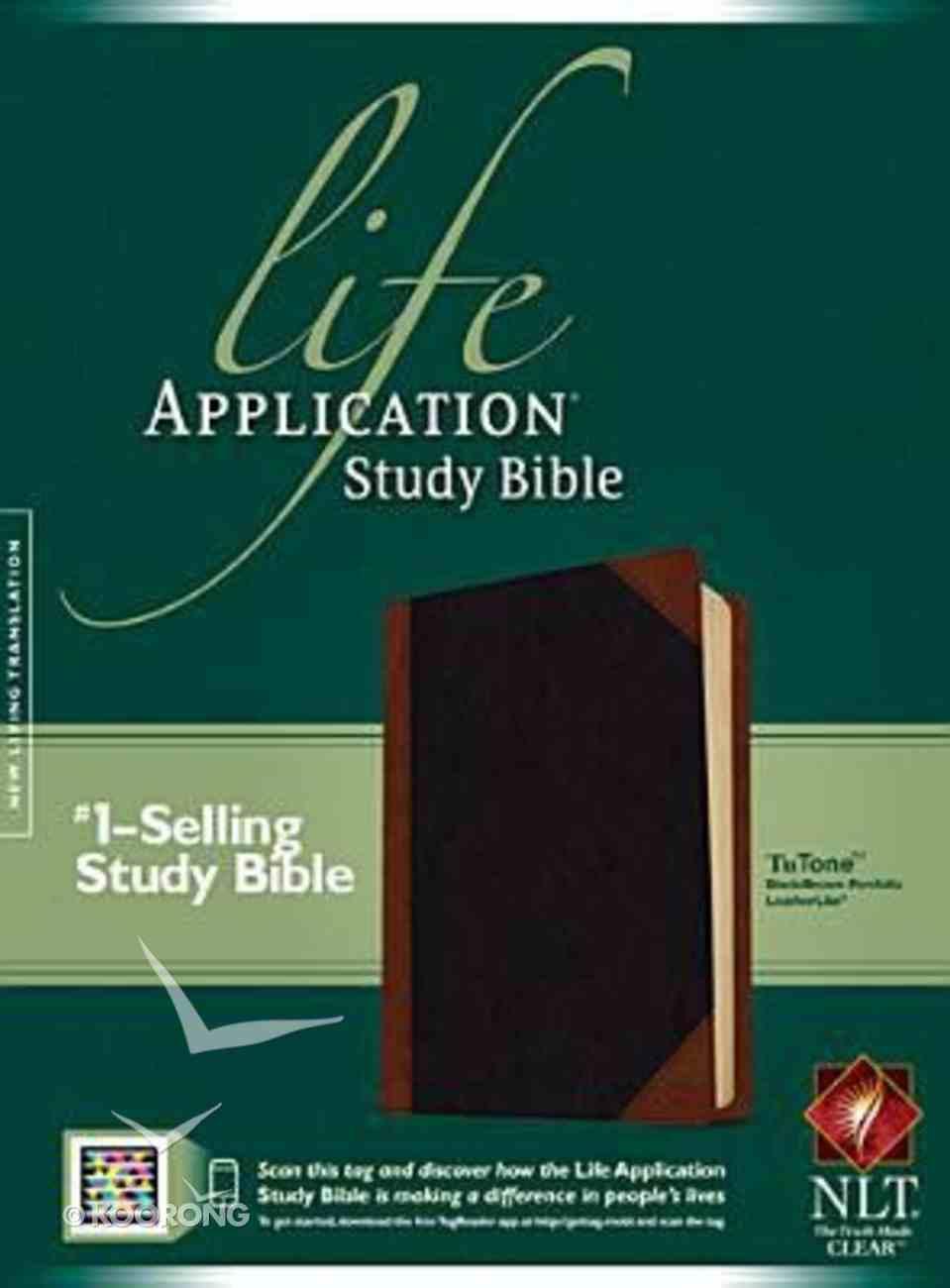 NLT Life Application Study Bible Tutone Black/Brown Imitation Leather