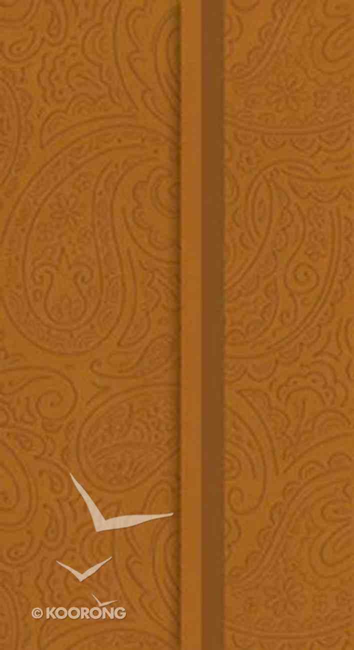 NKJV Checkbook Bible Snap-Flap Butterscotch Imitation Leather