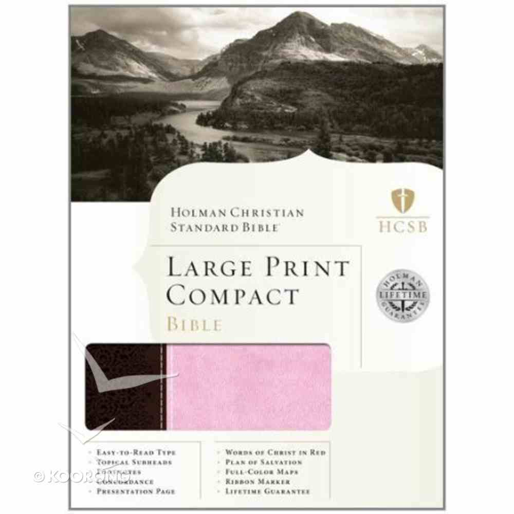 HCSB Compact Large Print Chocolate/Pink Duo-Tone Imitation Leather