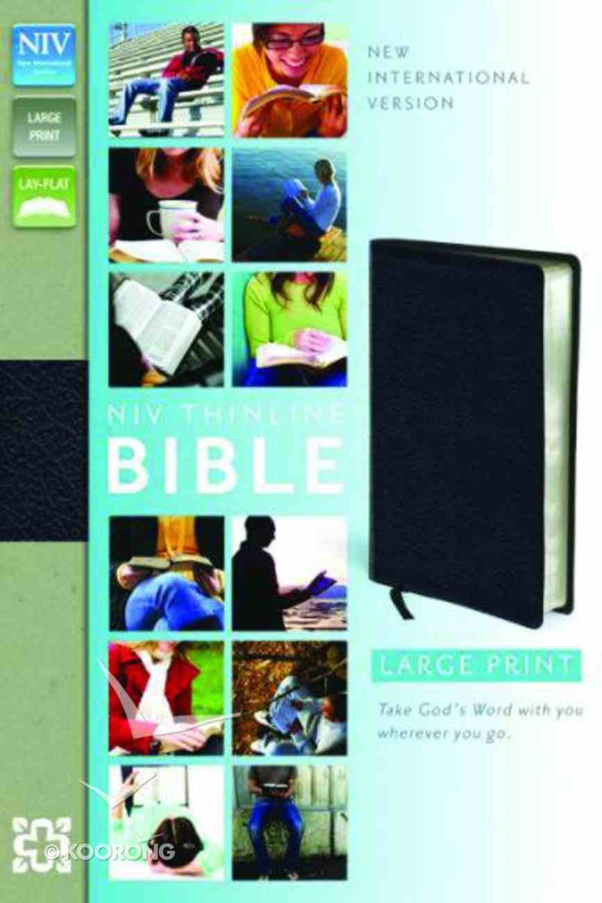 NIV Thinline Large Print Leather Bible Bonded Leather