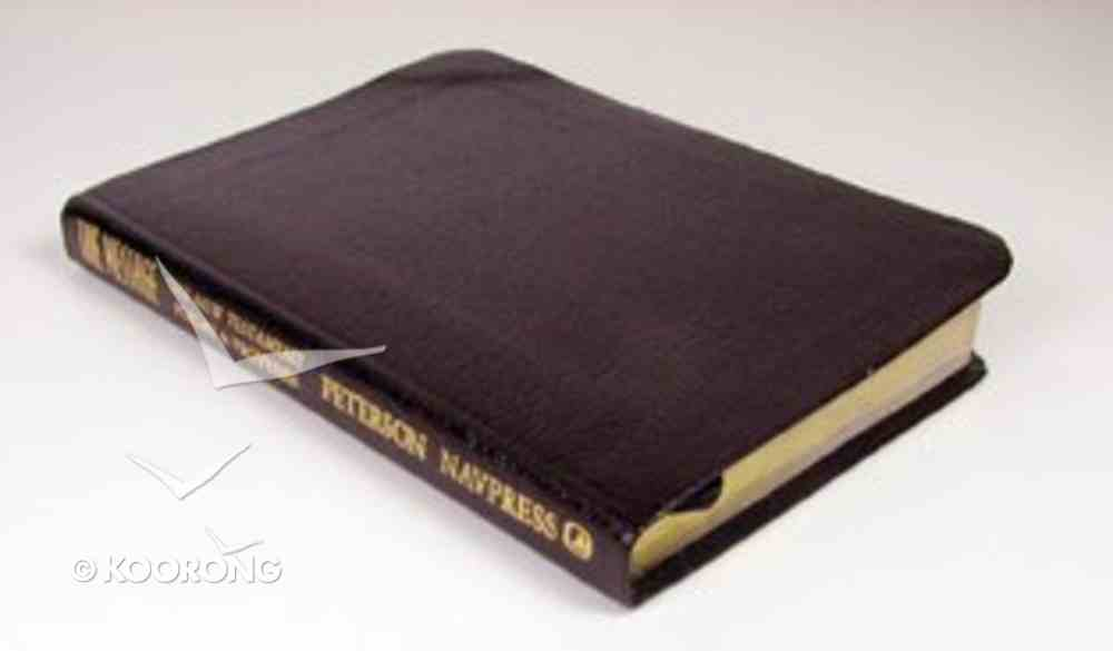 Message New Testament, Psalms and Proverbs Burgundy Bonded Leather