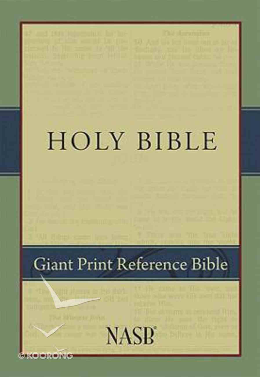 NASB Giant Print Reference Bible Hardback